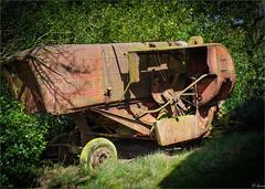 Rosedale - Old Threshing Machine (Hector Patrick) Tags: dng flickrelite lightroom69 northyorkmoors northyorkshire pentaxk1 rosedale rosedaleabbey smcpentaxf50mmf14 yorkshire britnatparks england unitedkingdom farming masseyferguson machinery