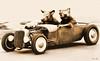 rats-in-a-rod... (Stu Bo) Tags: ride rebel ratrod rats humor car cs3 photoshop topless
