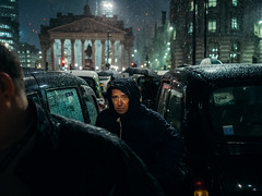 Braving the Weather (maxgor.com) Tags: 35mm bankofengland blackcabdriversdemo color demo demonstration england europe london maxgor maxgorcom olympus olympus17mmf18 olympuspenf photojournalism primelens protest rawstreets street streetphotographer streetphotography streetphotographycolor streetshooter uk улица unitedkingdom gb