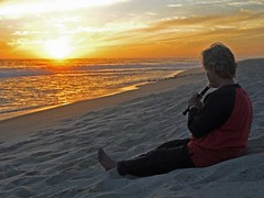 152-Music at sunset (David Bygott) Tags: mexico bajacalifornia todossantos beach sea sunset jeannette music recorder