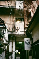 Involve (shimanosu) Tags: leica ⅲf summaron 35mm fujicolor 100  street snap 昭和 路地裏 錆 新栄 japan