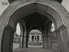 Old places have soul . . . (soumitra911) Tags: old places soul temple architecture wide ultra ultrawide black white blackandwhite pune wai menavali ghat