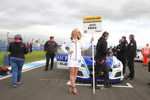 Josh Price on the grid before race two at the British Touring Car Championship 2017 at Donington Park