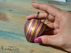 "Pendant ""Lines"" triangle (EvraZhka Studio) Tags: polymerclay polymer clay jewelry jewellery pendant necklace line lines color bordo black strict stripes stripe shine brilliance triangular triangle"