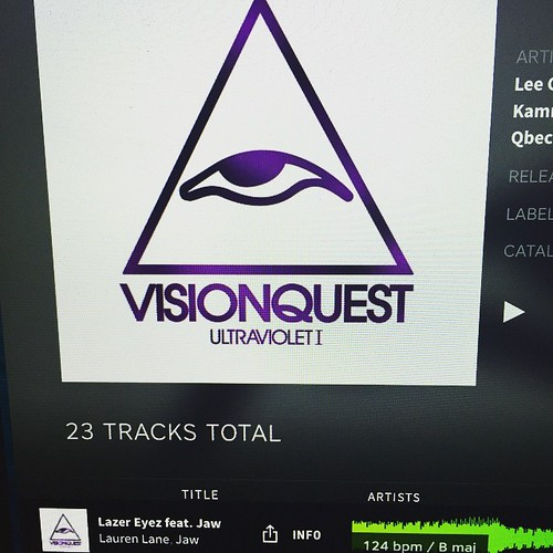 Hey did you guys know #LazerEyez feat. Jaw (@jawdivision) is part of the new #Visionquest compilation #Ultraviolet1? mixed by #DJThree- check it out on #Beatport 💥 #firethelazer