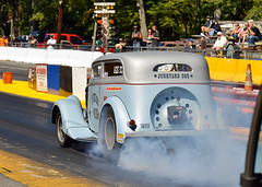 Jim Oddy's Junkyard Dog '34 Willys Blown alky Gasser heats 'em (Thumpr455) Tags: auto car nikon october automobile northcarolina alcohol shelby autoracing burnout 1934 dragracing willys supercharger blown gasser d800 dragstrip ags 2014 junkyarddog alky worldcars shadysidedragway hotrodrumble jimoddy agassupercharged
