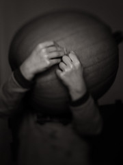 October (Dalla*) Tags: boy portrait white pumpkin kid holding hands october balck heavy wwwdallais
