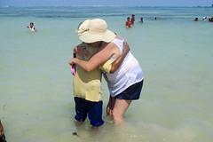 Friends, Kuta Beach, Lombok. (DarrynSantich) Tags: holiday beach swim indonesia nikon hug paradise friendly tropical lombok kuta tropicalparadise nikonaw110