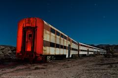 The Red Line Won't Be Running Tomorrow (dejavue.us) Tags: abandoned california desert fullmoon lightpainting longexposure metra nightphotography nikkor nikon train vle d800 jacumba