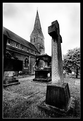 CHRIST CHURCH, ESHER. 9 (adriangeephotography) Tags: church graveyard photography memorial cross tomb tombstone surrey graves spire gravestone font adrian churchyard gee adriangeephotography