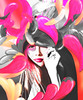 Hi, this is me. (nicimarkhoff) Tags: pink selfportrait illustration photoshop design digitalart creative imagemanipulation filmmaker halfasian ilovetoaddtags