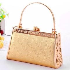 กระเป๋าคลัชออกงาน กระเป๋าถือผู้หญิงแฟชั่นเกาหลีหรูหราเข้าชุดราตรีและงานแต่ง นำเข้า สีทอง - พรีออเดอร์AP2542 ราคา1500บาท กระเป๋าคลัชออกงาน กระเป๋าถือแฟชั่น สำหรับผู้หญิงที่ต้องสวยครบเซทสีทองอร่ามแบบกระเป๋าแบรนด์ดังต้องกระเป๋าออกงานราตรีสไตล์คลัทช์และกระเป๋