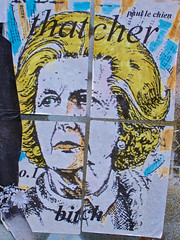 Thatcher, London, UK (Robby Virus) Tags: street city uk greatbritain england london art english paul mural artist unitedkingdom britain bitch margaret british thatcher lechien