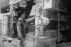 Doha - 50 C (Bony Nguyen) Tags: street blackandwhite bw market streetphotography streetlife poeple doha qatar quatar artistsontumblr lensblr photographersontumblr x100s fujifilmx100s
