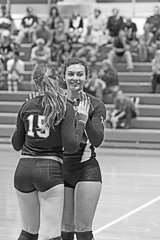 IMG_9524 (SJH Foto) Tags: girls blackandwhite bw white black college team university sub smith womens taylor rotation volleyball mu substitution millersville monocolour