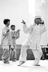 Channeling Chi (TheWanderingAmerican) Tags: china street blackandwhite white black blackwhite energy shanghai streetphotography buddhism tai chi  wushu spiritual pudong fitness tao  taichi bund fitzharris active taoism taiji  huangpu orientalpearltower shanghainese    taichichuan    tijqun  huangpudistrict   taijizhang