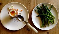 Breakfast (kathmo) Tags: food breakfast egg asparagus