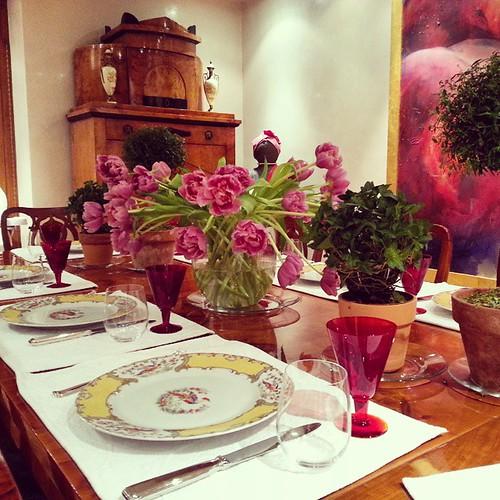 #properdinner #tulips #finechina