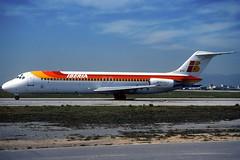 Iberia DC-9-32 EC-BYF BCN 17/03/2000 (jordi757) Tags: barcelona nikon airplanes bcn kodachrome douglas f90x iberia kodachrome64 avions mcdonnell dc9 elprat dc932 lebl ecbyf
