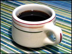 Caribe China Cup -- Puerto Rico (greenthumb_38) Tags: color cup colors coffeecup stripes mug coffeemug cafeteria midcentury caribe caribechina jeffreybass