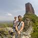 Mi e Roy e La Torre ao fundo
