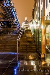 Shy St Paul's (dandavidson7) Tags: bridge london st cityscape nightscape cathedral pauls millennium
