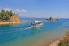 Macedonia, coaster sailing out of Nea Potidaia canal, Kassandra, Chalkidiki, Toroneos bay  #Μacedonia