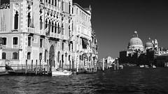 Grand canal - Basilica di Santa Maria della Salute (Waechor) Tags: venice bw italy nikon italia basilica nb nikkor venise venezia italie basilique basilic d700 waechor