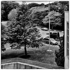 N43 - (ohsaydoesthatstarspangledbanneryet) WAVE (Timothy Valentine) Tags: blackandwhite flag thehospital 1014 silverefex notonmycard flickrbingo3 iphone5sbackcamera415mmf22 flickrbingo3n43