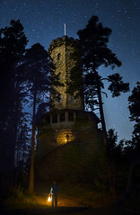 Carriers of Light (MilaMai) Tags: old original trees light boy shadow lightpainting man building tower castle history beautiful s