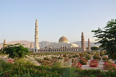 Grand Mosque of Muscat (The Spirit of the World ( On and Off)) Tags: sandstone landscaping muslim islam religion mosque minarets autofocus desertlandscaping sultanqaboosgrandmosque grandmosqueofmuscat muslimreligion musat rememberthatmomentlevel1 ibadhiislam