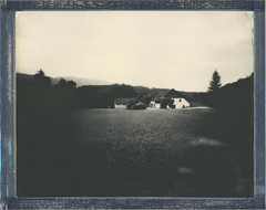 8x10 Looking Back (sycamoretrees) Tags: house film field analog rural polaroid pinhole 8x10 integral largeformat impossible pq instantfilm integralfilm silvershade marianrainerharbach pq201212