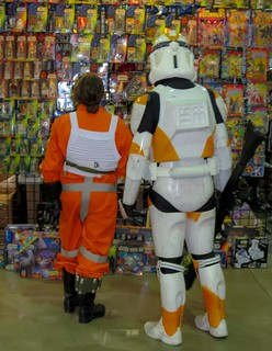 Shopping at the Star Wars booth