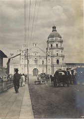 1900 photo of an old church in Manila, Philippines. (benedictvillas) Tags: santa church catholic christ philippines saints holy santos week cristo semana vecin