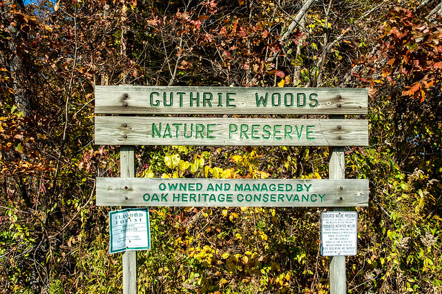 Guthrie Woods Memorial Woods Nature Preserve - October 25, 2014