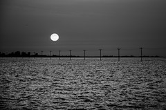 Sunset (Esmaeel Bagherian) Tags: sunset sea bw sun blackwhite nikon 18105   18105mm    d7000 ebagherian