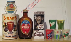 Vintage Food Packaging (bolio88) Tags: food vintage log cabin box juice free can syrup pepsi diet rite bicentennial 7up count prune chocula