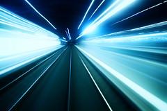 Warp Speed (Lazy Pixel) Tags: longexposure travel speed train lights movement trails fast