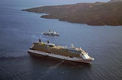 Solstice at Santorini 1 (PhillMono) Tags: cruise sun celebrity lumix volcano coast boat ship guard vessel panasonic santorini greece solstice