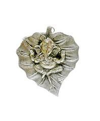 Silver One piece of Lord Ganesha idol on leaf (ohnineone) Tags: shopping ganesha leaf discount lord idol diwali offers