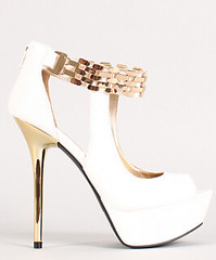 "metallic accent cut out peep toe white • <a style=""font-size:0.8em;"" href=""http://www.flickr.com/photos/64360322@N06/15486874036/"" target=""_blank"">View on Flickr</a>"
