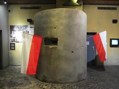Warsaw Uprising Museum (Stewie1980) Tags: museum canon flag wwii poland polska polish powershot bunker polen warsaw muzeum warszawa uprising warschau powstania warszawskiego sx130 sx130is canonpowershotsx130is