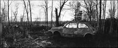 Fiat (Foide) Tags: bw panorama rollei analog horizon wreck rpx400 filmfilmforever