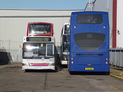 ADL Harlow Factory 01/11/14 (TheStanstedTrainspotter) Tags: bus public buses transport harlow publictransport bluestar adl eastleigh plaxton alx400 alexanderdennis dennisdart 48301 enviro400 firstessex goaheadgroup gosouthcoast ao02odm luckettstravel hf64bpo