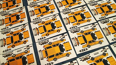 (jcarwil) Tags: new york city nyc 3 cars paper model die with 1987 cab taxi hard chevy 1980s papercraft caprice vengeance 2014 a jcarwil