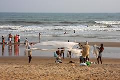 The beach of Puri, Orissa (sensaos) Tags: city travel sea people urban india beach asia orissa pilgrim puri 2013 odisha sensaos