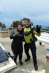 Melissa & Rod Comic Con Kelp Tank Dive_P1040572