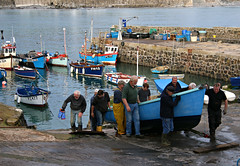 Coverack Autumn 2 (Raphooey) Tags: uk autumn winter light sea england fish haven southwest west beach robin st canon way boats eos boat store seaside fishing fisherman cornwall fishermen harbour south shoreline sage storage lizard shore hauling gb lou slip tradition shelter winch slipway haul winching coverack silenus kindly 70d keverne meneage