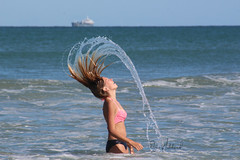 Water Mohawk (Dougga) Tags: ocean motion fling beach water hair waves ship salt mohawk cocoa