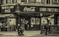 Lenox Finest Deli (PAJ880) Tags: new york nyc bw harlem deli finest lenox
